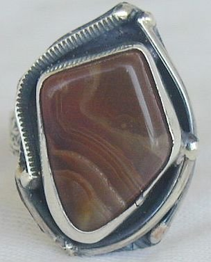 Agate colored ring RHM77