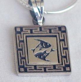 Pisces A zodiac sign pendant