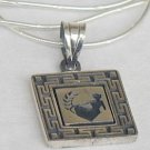 Virgo zodiac sign silver pendant