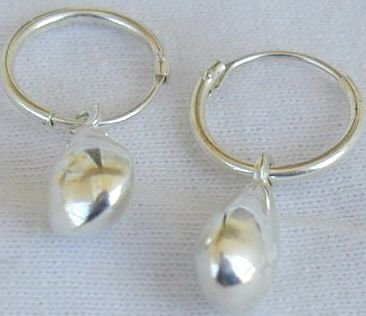 As1-drops silver mini earrings