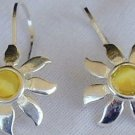 Mini Yellow sun earrings