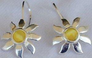 Mini Yellow sun earrings