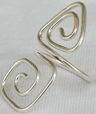 Greek silver ring