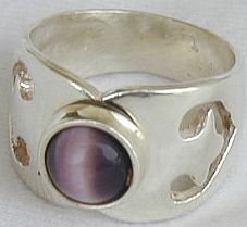 Purple cat eye ring