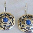 David-Star blue earrings