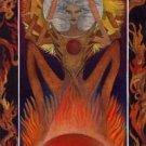 Artistic leo zodiac sign poster