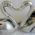 Kissing swans miniature