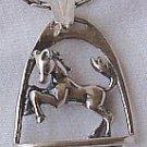 Framed horse pendant