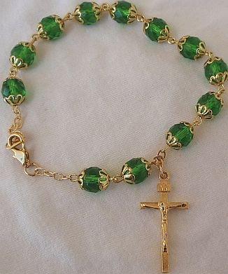 Green bracelet Rosary