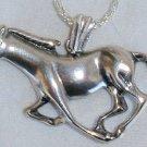 Horse silver pendant
