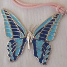 Turquoise butterfly pendant - A