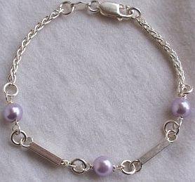 Purple silver bracelet-C