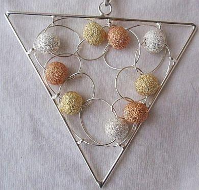 Triangle  Italian  pendant