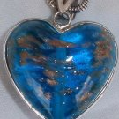 Turquoise  gold morano heart