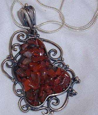 H cut stones+silver chain