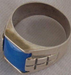 A light blue man ring