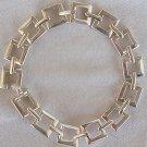 Open  Square  silver bracelet