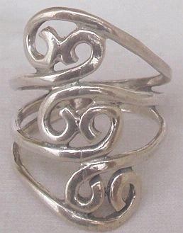 Tav silver ring