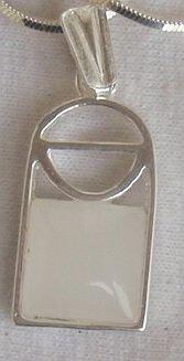 Mini white window pendant