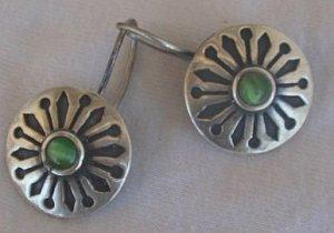 oriental green cat eye earrings
