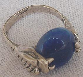 Blue snake ring