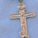 Catholic silver cross-DI