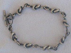 Oxygenized silver bracelet-unisex