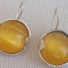 Yellow round earrings