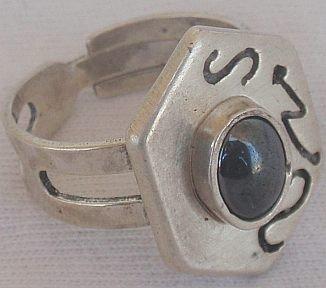 Silver onyx ring