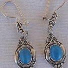 Turquoise oriental earrings