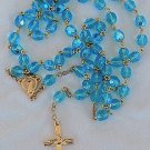 Turquoise crystal Rosary
