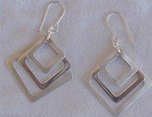 Trendy Triple windows earrings