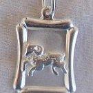 Capricorn -B zodiac silver pendant