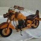Handmade wooden motorcyle