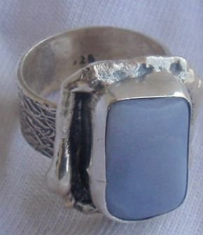 Lace silver hand made ring LH