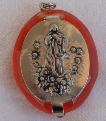 Mini orange rosary box C