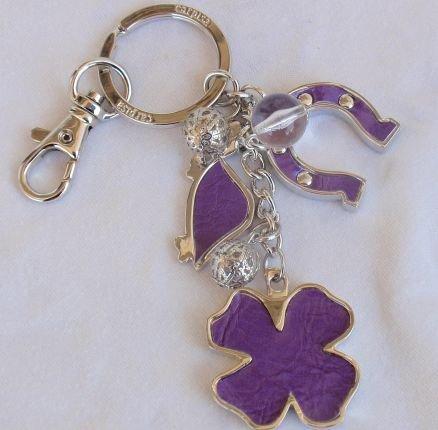 Key holder charms purple Carpisa