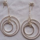 Double round hoop earrings