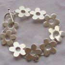 Silver flowers bracelet