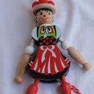 Jumping baker doll