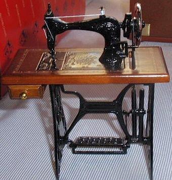 Wood and metal sewing machine miniature