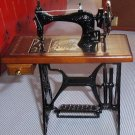 Wood and metal sewing machine miniature