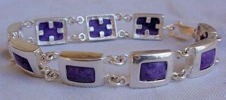 Puprle silver bracelet A 10