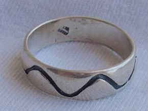 Lines silver ring