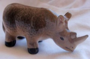 Decorative Rhinoceros miniature