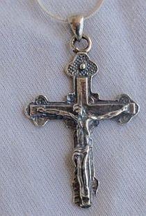 Catholic silver cross