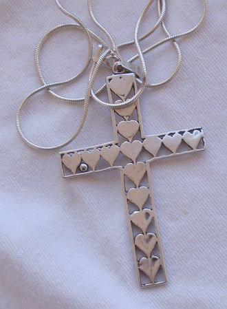 Silver Cross hearts