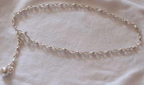 Capri silver anklet A
