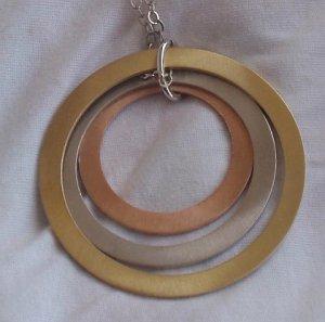Italian three rings necklace