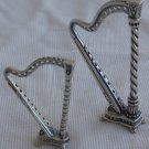 Two silver harps miniature